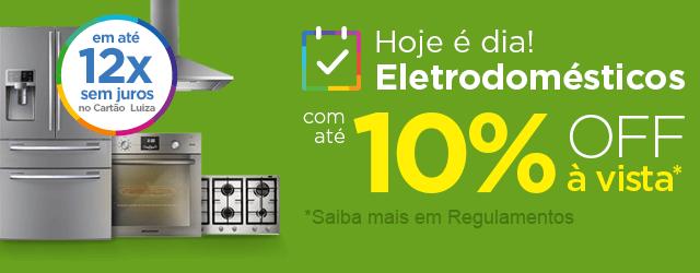 FESTIVAL de ELETRODOMÉSTICOS com até 10% OFF à vista!!
