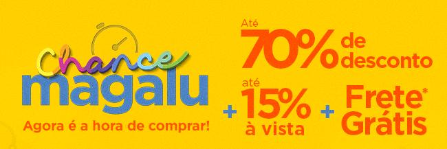 Chance Magalu: ofertas com até 70% OFF + Frete Grátis*